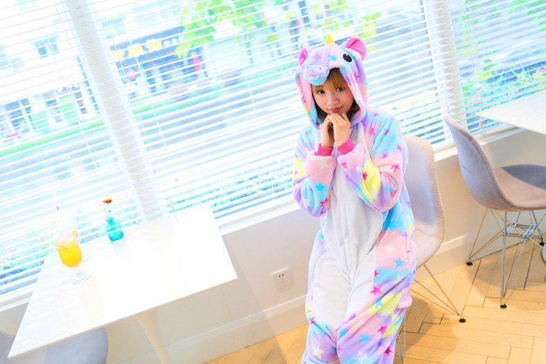 """Кигуруми (пижама-комбинезон) """"Единорог"""" цветная размер S, M, L, XL"""
