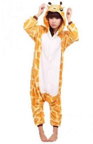 "Кигуруми (пижама-комбинезон) ""Жираф"" оранжевая размер S, M, L, XL"
