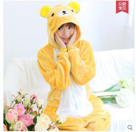 "Кигуруми (пижама-комбинезон) ""Мишка"" желтая размер S, M, L, XL"