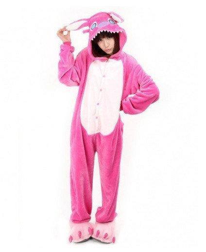 """Кигуруми (пижама-комбинезон) """"Стич"""" розовая размер S, M, L, XL"""