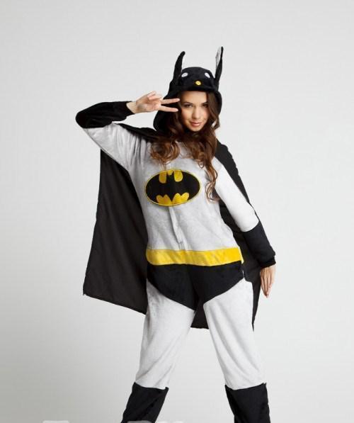 "Кигуруми (пижама-комбинезон) ""Бэтмэн"" серо-черная размер XS, S, M, L, XL"