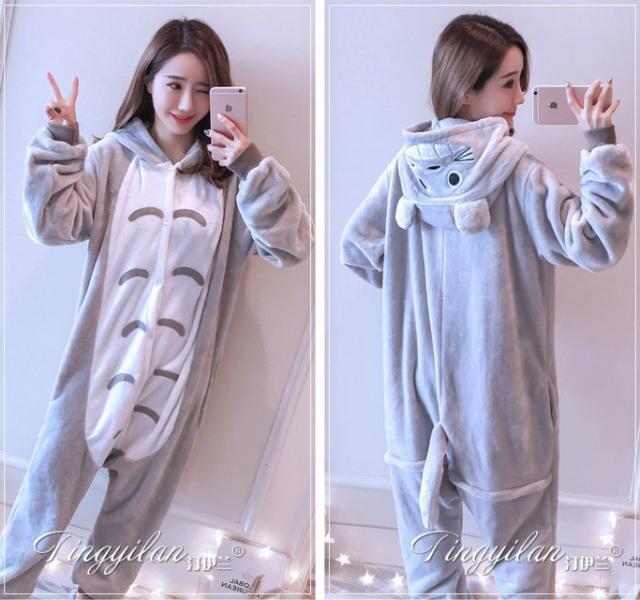 """Кигуруми (пижама-комбинезон) """"Тоторо"""" серая размер XS, S, M, L, XL"""