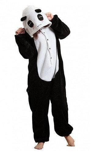 "Кигуруми (пижама-комбинезон) ""Пандочка"" бело-черная размер XS, S, M, L, XL"