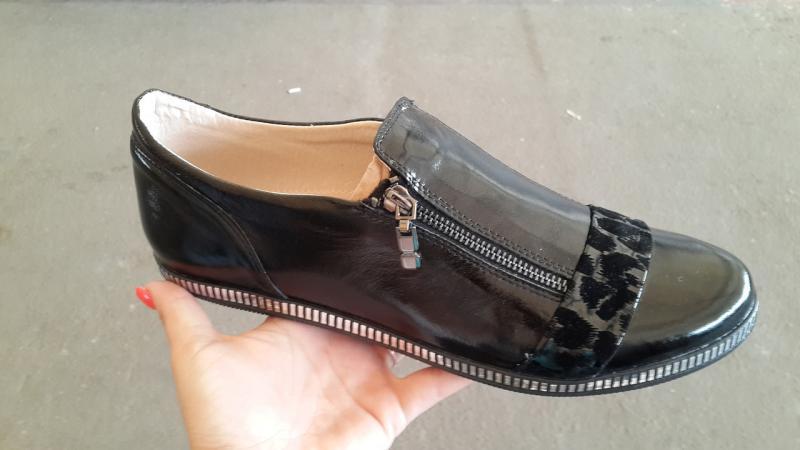 Женские кожаные туфли больших размеров. Украина