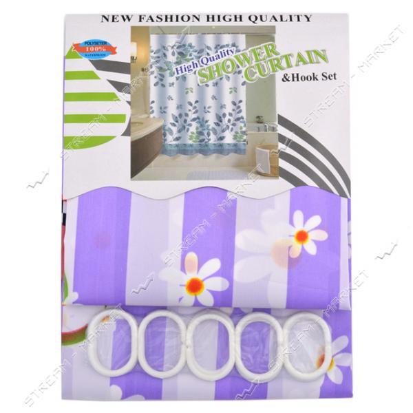Штора для ванны Атлас атласная ткань 170х180см фиолетовая