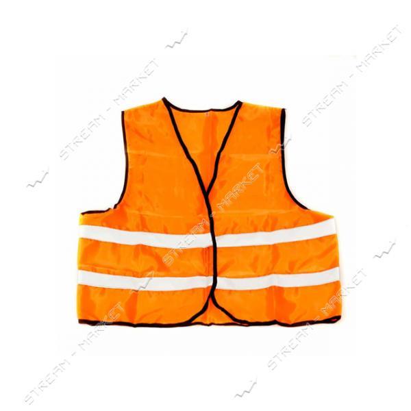 Жилет со светоотр. лентой Китай (цвет оранж) размер 4ХL плотность ткани 80г/м2