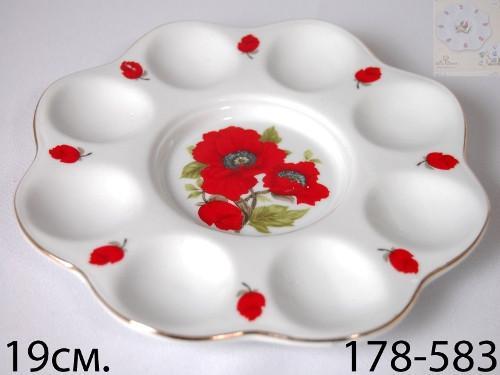 Блюдо для яиц Lefard Маки 20х20х4 см, 178-583
