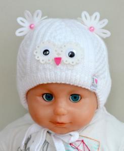 Фото Шапки, перчатки, наушники, шарфы ЗИМА, Шапка СОВА 0-3 мес