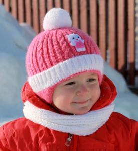 Фото Шапки, перчатки, наушники, шарфы ЗИМА. Шапка КОШКА 46-48рр