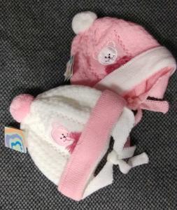 Фото Шапки, перчатки, наушники, шарфы ЗИМА. Шапка 3-6 мес