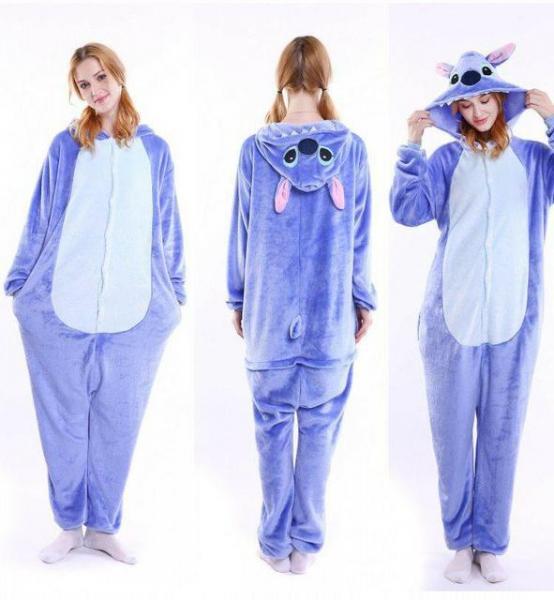 "Кигуруми (пижама-комбинезон) ""Стич"" сиреневая размер S, M, L, XL"