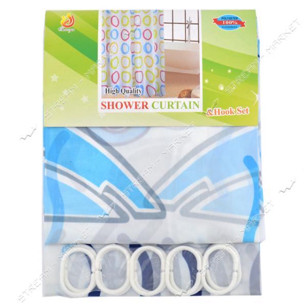 Штора для ванны зонтичная ткань белая 180х170см