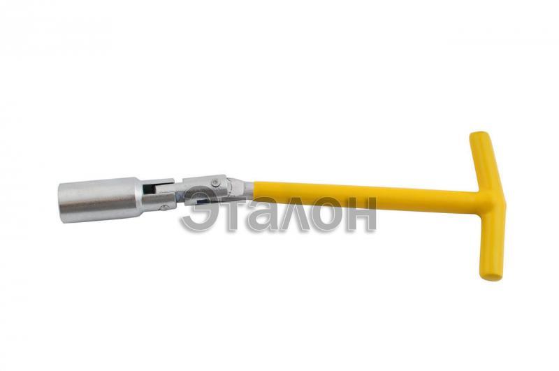 Свечной ключ Т-образный с шарниром Intertool - 16 х 250 мм