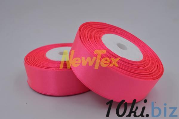 Атласная лента 2,5 см, розовый яркий 14 Декор для шитья и рукоделия в России