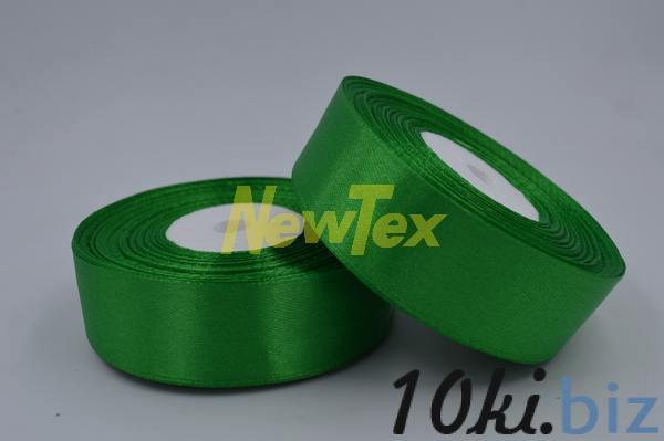 Атласная лента 2,5 см, зеленый 19 Декор для шитья и рукоделия в России