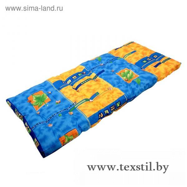 Фото Текстиль, Текстиль для спальни, Матрасы Матрас ватный 120х190 см, МИКС 100% п/э