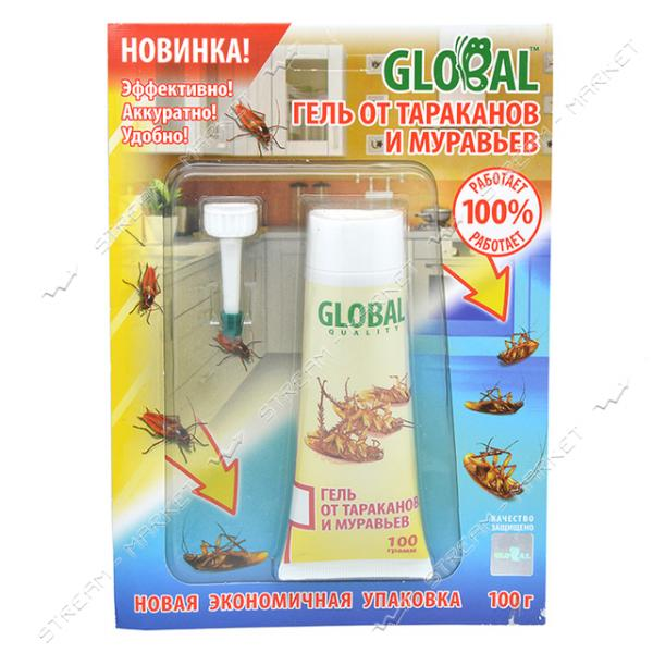 Гель в тубе Global от тараканов и муравьев 100г