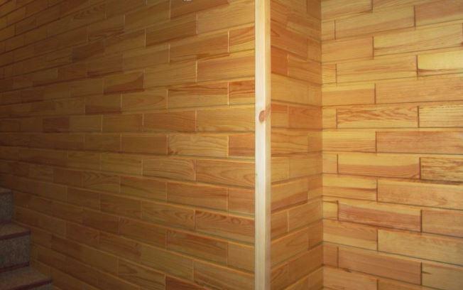 Облицовка стен деревянной вагонкой, блок-хаус, имитация бруса и т.д. Монтаж деревянной вагонкой, блок-хаус