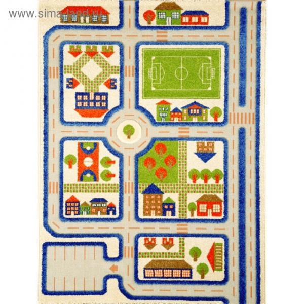 """Ковёр игровой """"Трафик"""", размер 160х230 см, цвет голубой"""