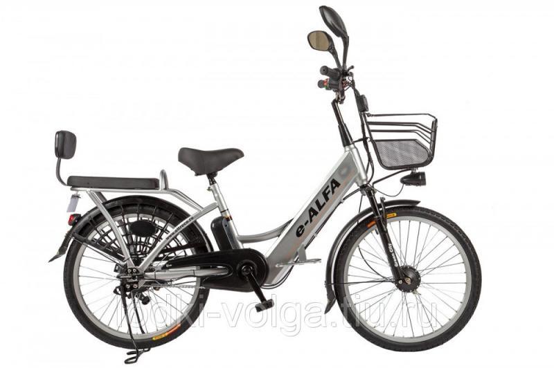 Велогибрид Eltreco e-ALFA grey-0277