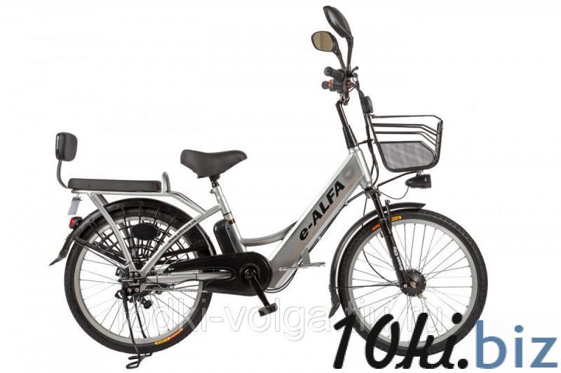 Велогибрид Eltreco e-ALFA grey-0277 Электровелосипеды в России