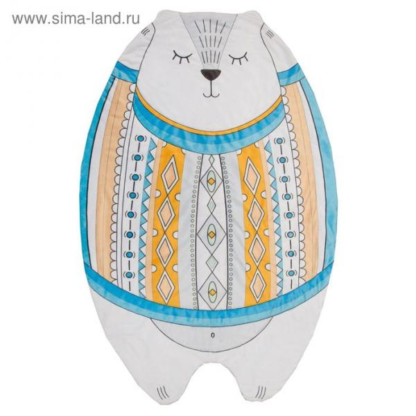 "Одеяло-плед ""Крошка Я"" Мишка 124*77 см, велюр, синтепон 100г/м2"