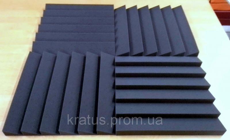 Акустические панели «Оптима 500»  0,5х0,5м толщина 50мм темно-серая  (на фото 4 шт. цена за 1 шт.)