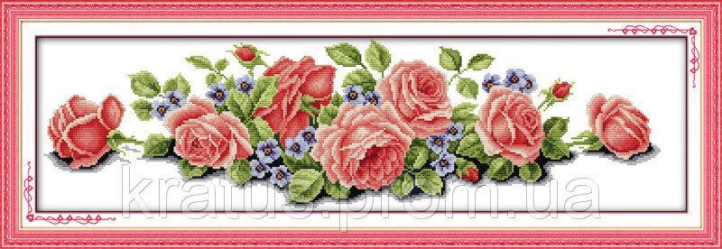 """Н 030 """"Розовая мечта"""" Набор для вышивания крестом 74х26 см"""