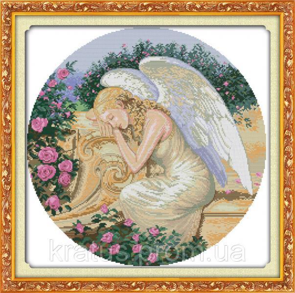 """R 287 """"Спящий ангел"""" Набор для вышивания крестом 50х50 см"""