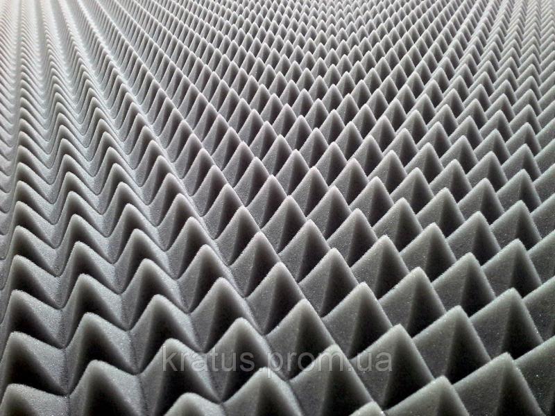 Акустический поролон «пирамида» лист 1х2м толщина 40мм серый