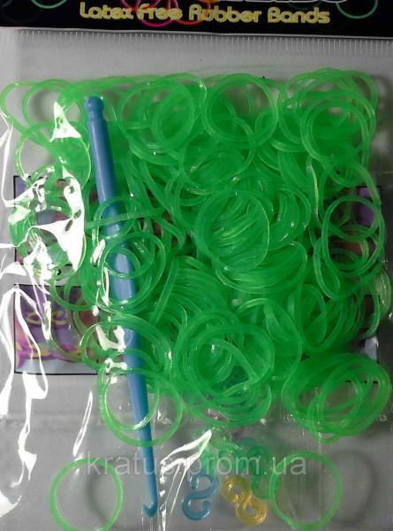 Резинки в пакете светло-салатовые 200шт.