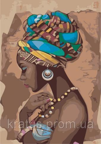 "KH 2625 ""Жемчужина Африки"" Роспись по номерам на холсте 35х50см"