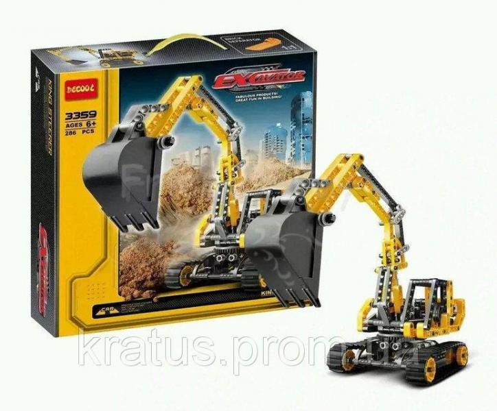 """3359 Конструктор Decool (аналог Lego Technik) """"Экскаватор"""" 286 дет."""