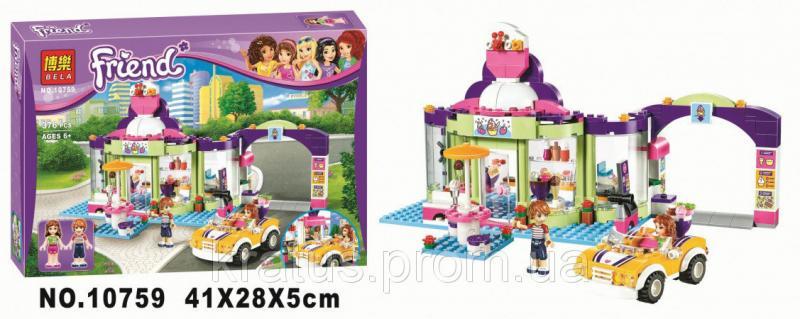 """10759 Конструктор Bela (Lego Friends 41320) """"Магазин замороженных йогуртов"""" 376 дет."""