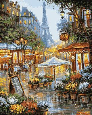 "VP 941 ""Летний дождь в Париже"" Картина по номерам на холсте 40х50см"
