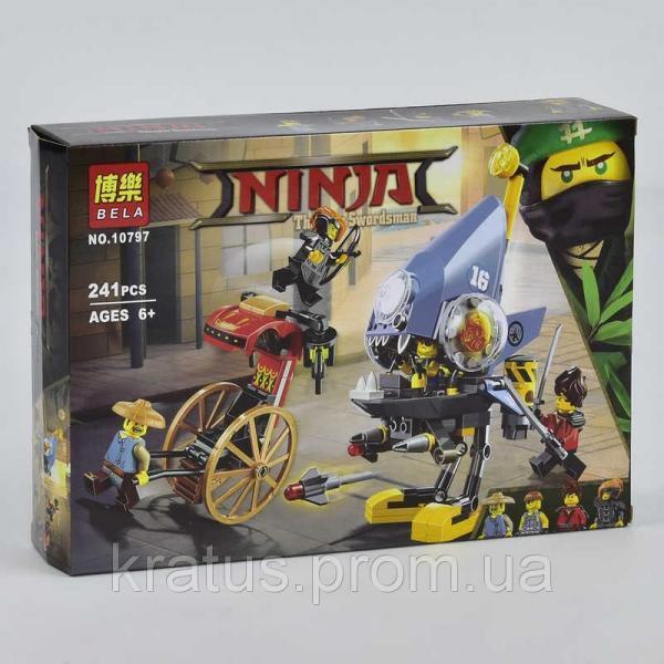 10797 Конструктор Bela Ниндзяго Атака Пираньи (аналог Lego Ninjago Movie 70629)