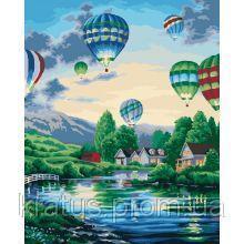 """KHO 2221 """"Воздушные шары 2"""" Роспись по номерам на холсте 40х50см"""