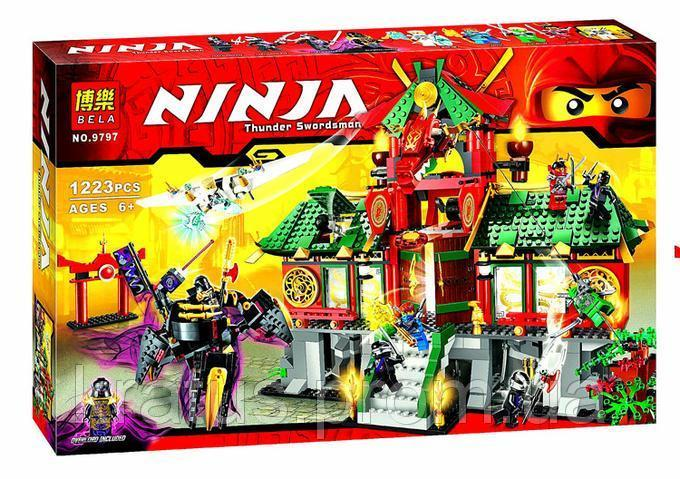 """9797 Bela  Конструктор (аналог Lego Ниндзяго 70728) """"Битва за Ниндзяго Сити"""" 1223 детали"""