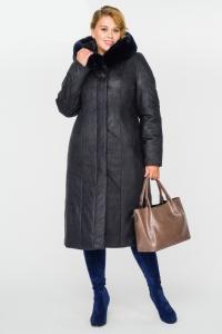 Фото  Зимнее пальто из плащевки