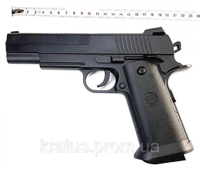 Пистолет металлический  J 31 (масштабная копия 1:1  реплика кольта 1911)