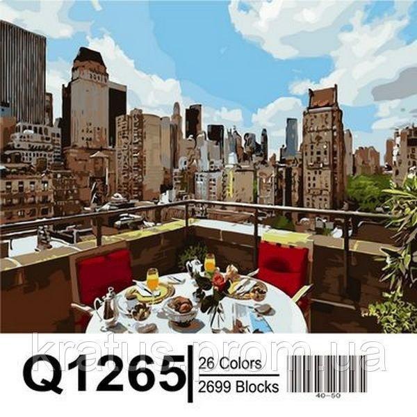"Q1265 ""Ланч на крыше"" Роспись по номерам на холсте 40х50см"