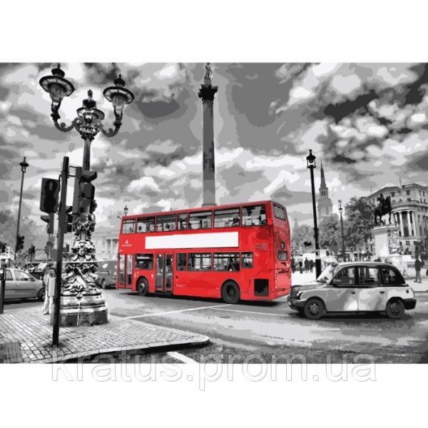 """KH 2146 """"Яркий автобус"""" Картина по номерам на холсте 40х50см"""