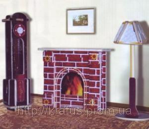 Фото Конструкторы, Деревянные сборные модели, Кукольная мебель Конструктор деревянный sea-land  «Часы и лампа»  2-е  пластины цветной