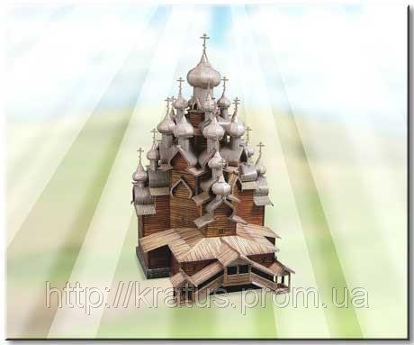 151 Коллекционный 3D пазл  «Церковь Преображения Господня» (о.Кижи)