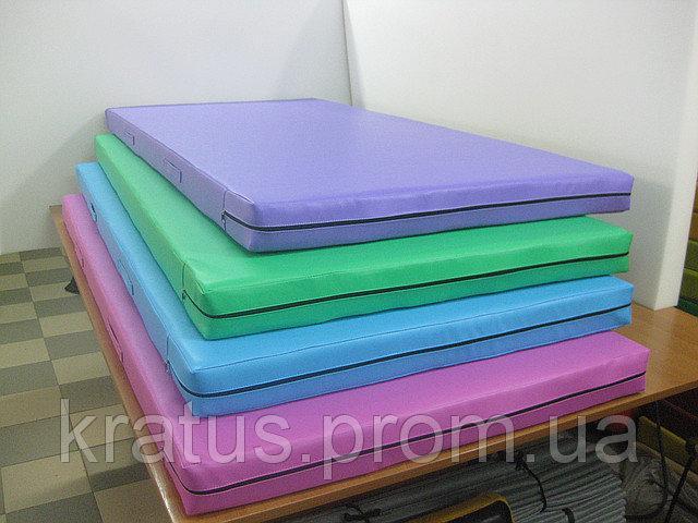 Маты спортивные гимнастические цветные 1х2м