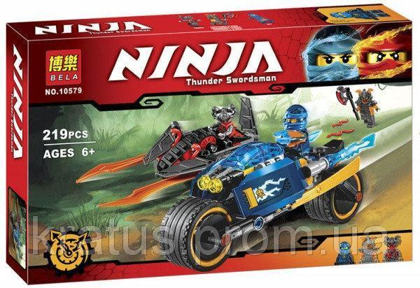 """10579 Конструктор Bela Ninja (аналог Lego Ninjago 70622) """"Пустынная молния"""" 219 дет."""