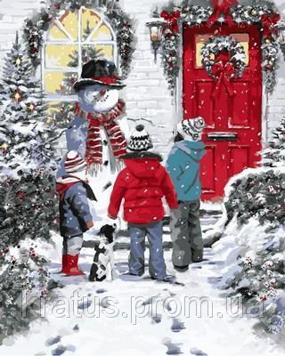 Фото Картины на холсте по номерам, Зима! Новый Год! Рождество! VP783