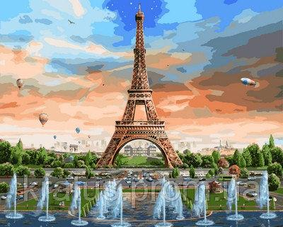 "VP821 ""Радуга над Парижем"" Картина по номерам на холсте 40х50см"