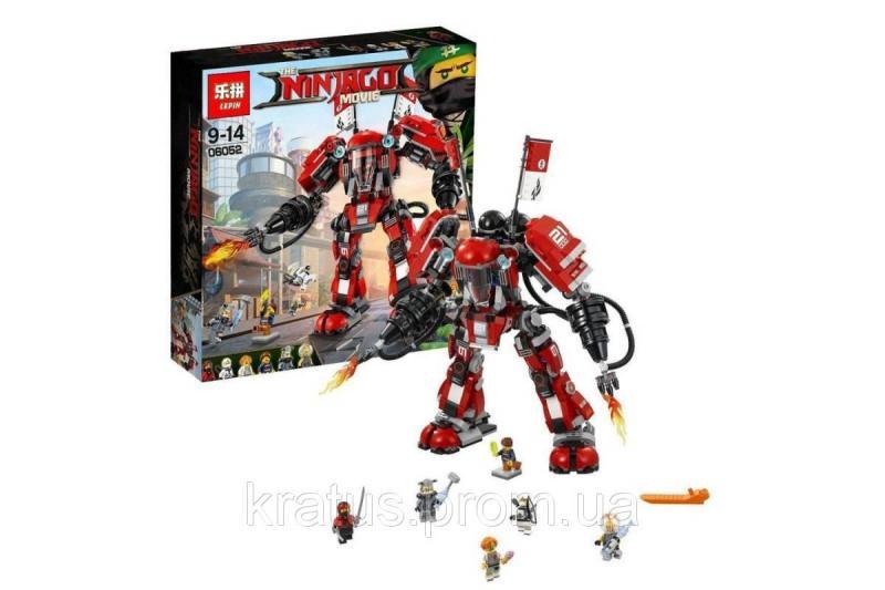 """Конструктор Lepin 06052 (аналог Lego Ninjago 70615) """"Огненный робот"""" 1010 дет."""