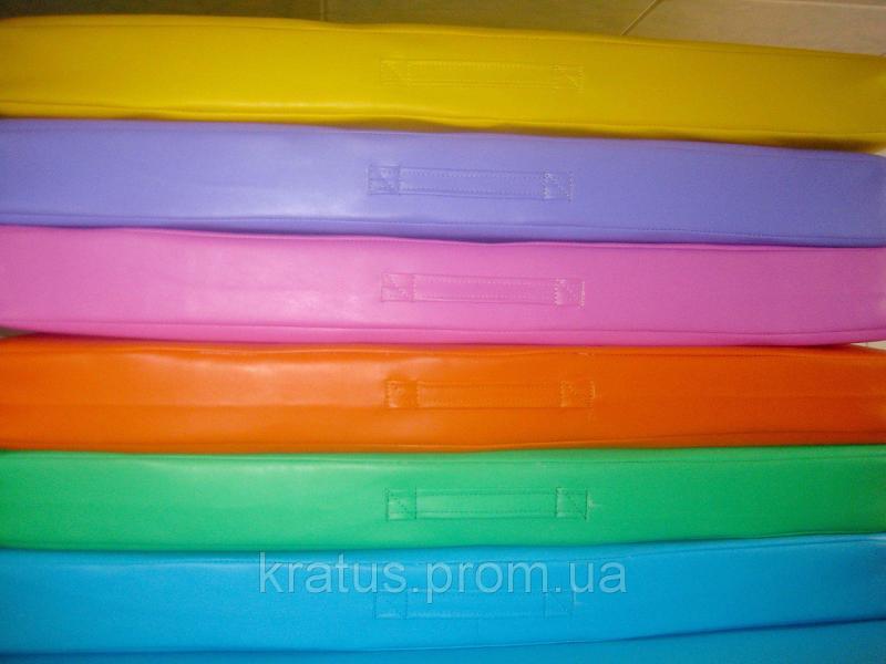 Маты гимнастический детский раскладной одноцветный 1х2м